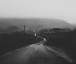 black and white, photography, and way image