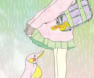 duck, rain, and skirts image
