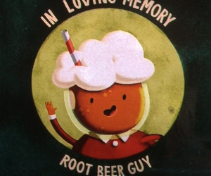 adventure time and root beer guy image
