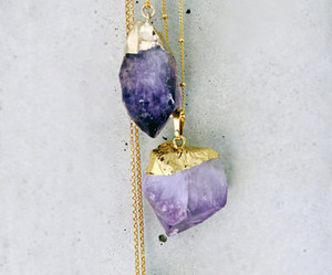 necklace, purple, and crystal image