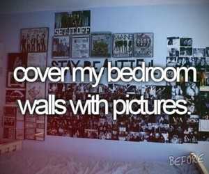 picture, bedroom, and before i die image