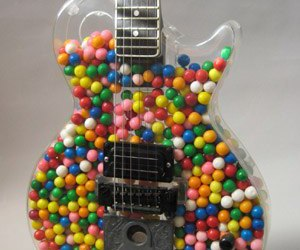 guitar, candy, and music image
