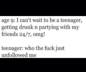 drinking, followers, and teen image