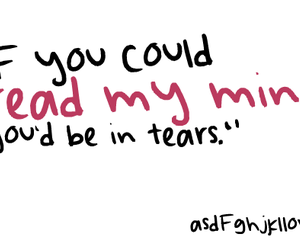 text, quote, and tears image