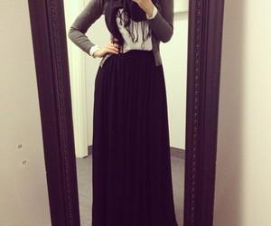 hijab, black, and muslim image