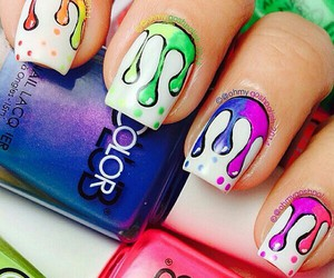 colors, nails, and uñas image