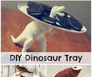 diy, dinosaur, and tray image