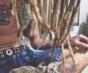 cat, dreadlocks, and dreads image
