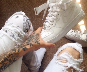 tattoo, nike, and white image