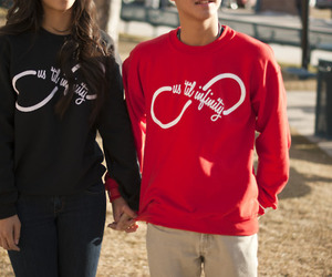 love, couple, and infinity image