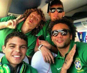 marcelo, neymar, and david luiz image