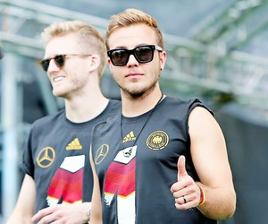 mario gotze, champion, and germany image