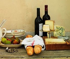 wine, cheese, and food image