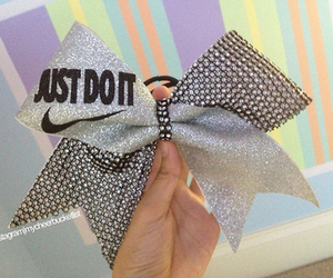 bow, nike, and cheer bow image