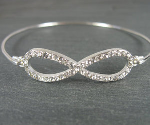 jewelry, silver jewelry, and silver bracelet image
