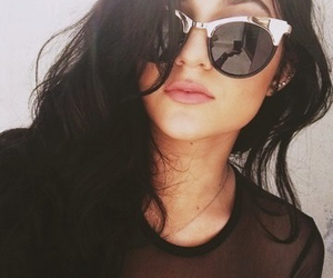 kylie jenner, sunglasses, and hair image