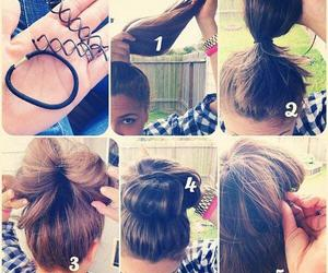 hair, diy, and girl image