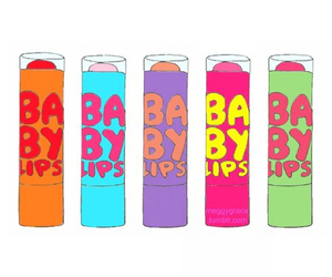 illustration, overlays, and babylips image