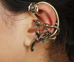 earrings, rose, and punk image