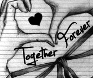 love, forever, and heart image