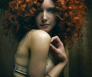 curly, ginger, and hair image