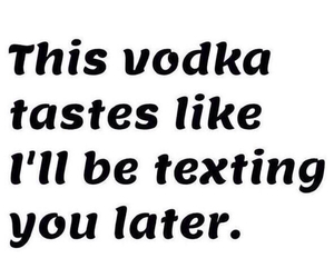 vodka, texting, and quotes image