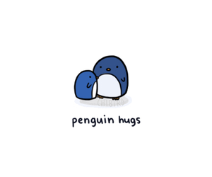 animals, hug, and penguin image