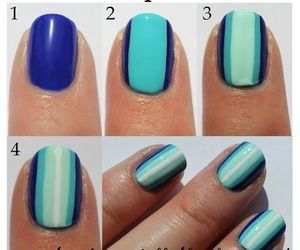 nails, tutorial, and nail art image