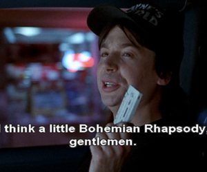 wayne's world, Queen, and bohemian rhapsody image
