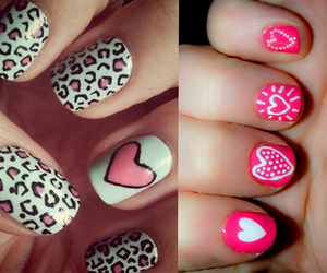 glitter, heart, and nails image