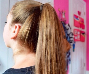 tumblr, hair, and ponytail image