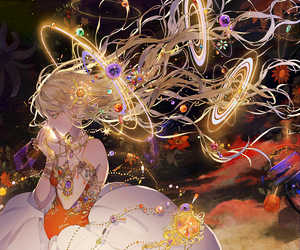 female, jewelry, and pixiv image