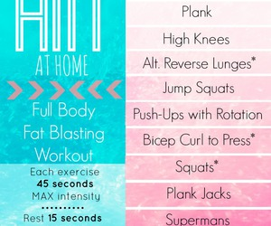 fitness, routine, and workout image