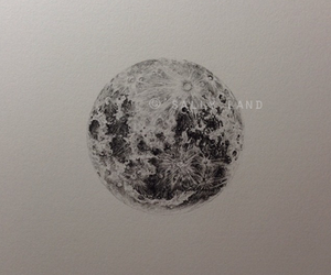 art, full moon, and space image