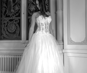 wedding dress, sexy wedding dress, and ivory wedding dress image