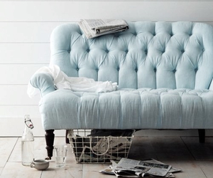 blue, couch, and sofa image