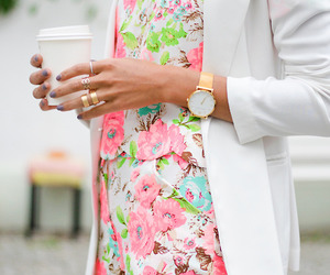 floral, stylish, and girly image