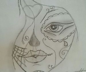 black & white, drawing, and pencil image