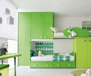 bedroom, design, and green image