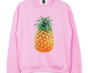 pineapple, pink, and sweater image