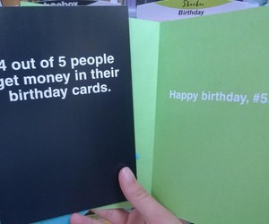 funny, birthday, and money image