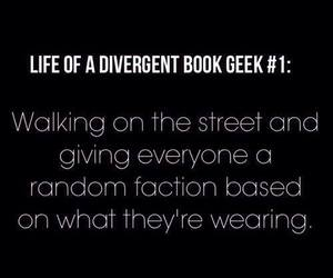 divergent, book, and factions image