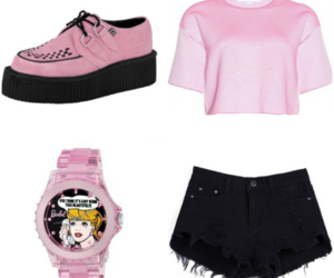 girls, pink, and outfit image