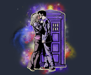 doctor who, kiss, and rose tyler image