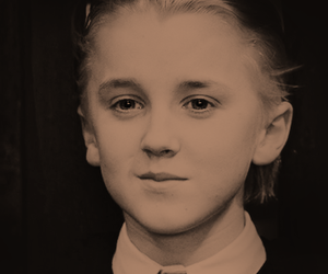 draco malfoy, harry potter, and jk rowling image