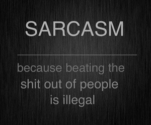 sarcasm, quotes, and funny image