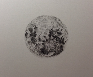 art, drawing, and full moon image