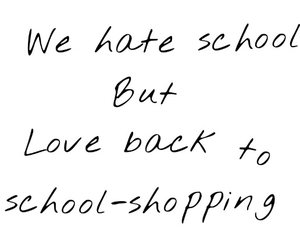 school, shopping, and school shopping image