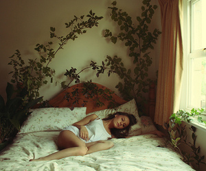 girl and bed image