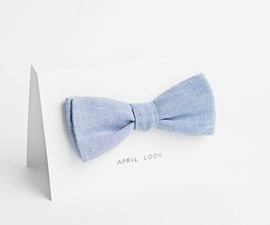 blue, bow, and boy image